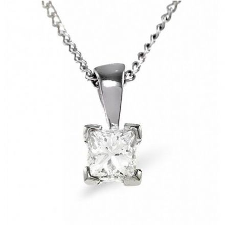 18K White Gold 0.25ct G/vs Diamond Pendant, DP03-25VSW